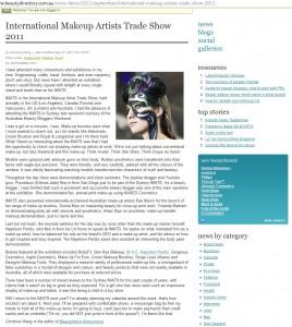 BeautyDirectory IMATS Sydney 2011 Wrap-up