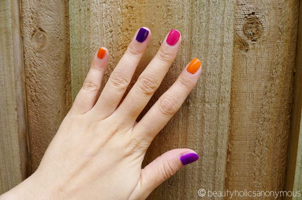 Colour-Blocked 80s Nails