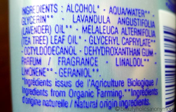 L'occitane Lavande Hand Purifying Gel Ingredients