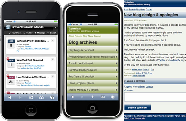 Wordpress Mobile Theme Plugins