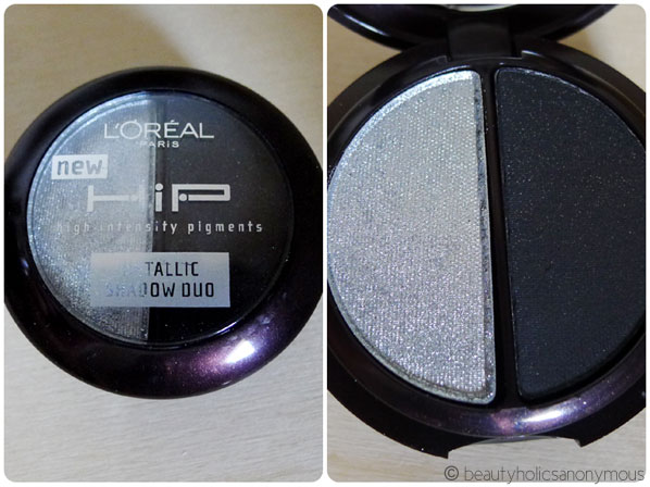 L'oreal HIP Metallic Shadow Duo in 906 Platinum
