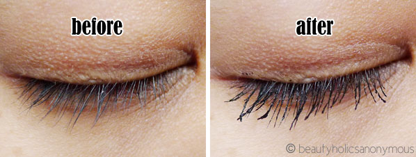 Australis Voluptulash Mascara Before and After