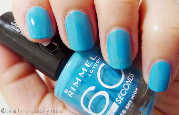 Rimmel London 60 Seconds Nail Polish in 825 Sky High
