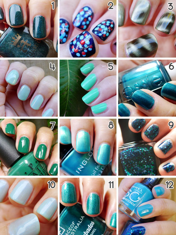 Have I Mentioned How Much I Love Green & Blue Nails? - Beautyholics ...