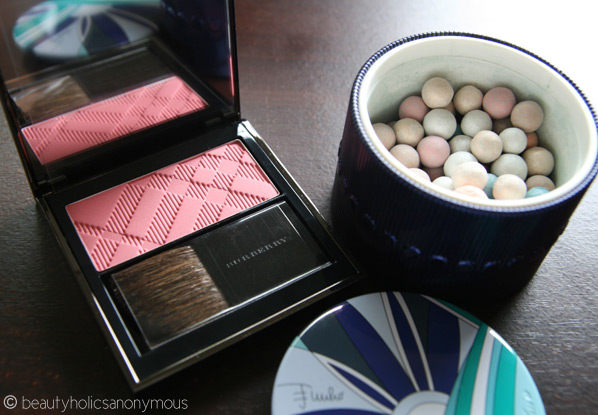 Burberry Beauty Light Glow Rose Blush and Guerlain Meteorites Perles D'Azur by Emilio Pucci