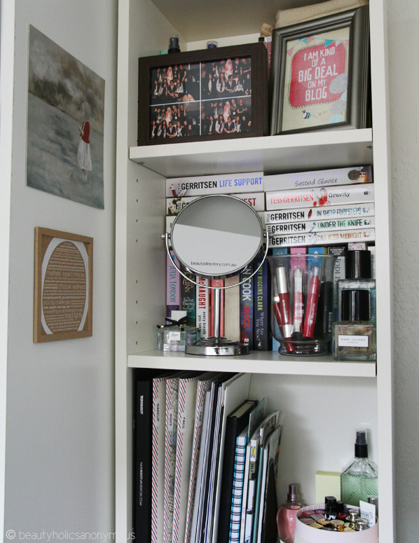White Shelves in Study