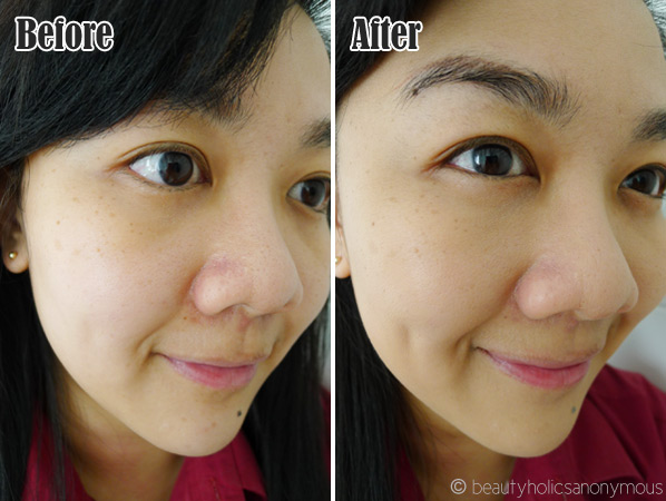 Clinique Stay-Matte Oil-Free Makeup Before and After