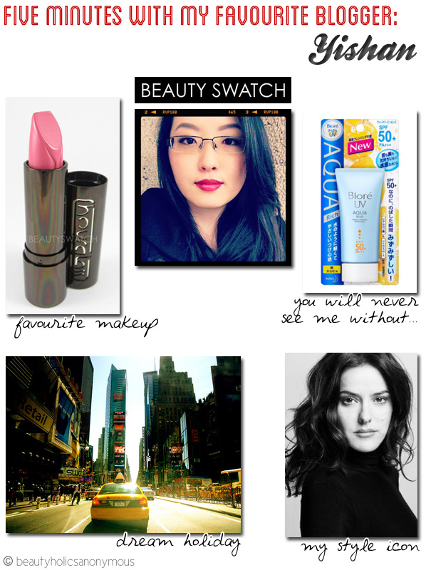 Five Minutes with My Favourite Blogger: Yishan @ Beauty Swatch