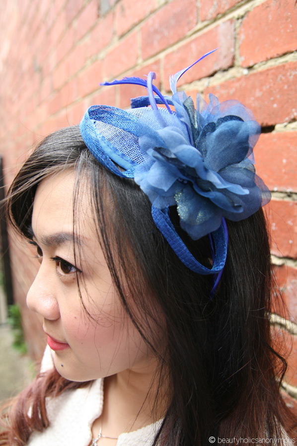 Blue Fascinator from Fashion Addict