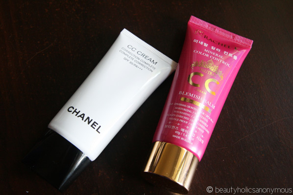 Chanel and Rachel K CC creams