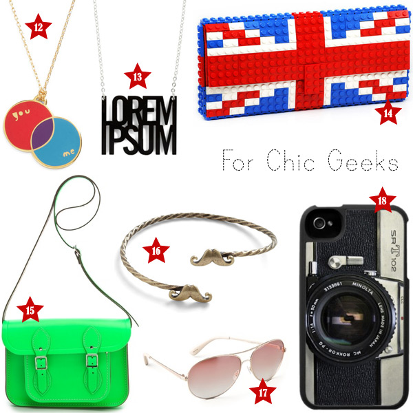 Holiday Gift Ideas: Chic Geeks