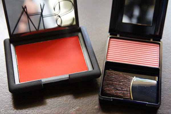 Estee Lauder Signature Silky Powder Blush in Pink Kiss and NARS Exhibit A