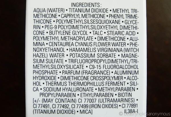 Chanel CC Cream Ingredients