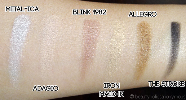 The Balm Balm Jovi Rockstar Face Palette Eyeshadow Swatches