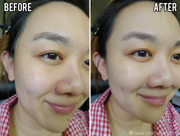 Chanel CC Cream On Skin Before and After