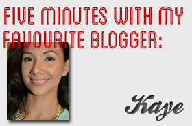 Five Minutes with My Favourite Blogger: Kaye @ Beautiful Kayekie