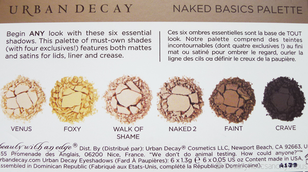 Urban Decay's NAKED Basics Eyeshadow Palette