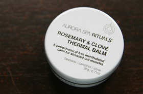 Quickie Mention: Aurora Spa Rituals Rosemary & Clove Thermal Balm