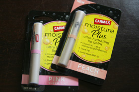 Quickie Mention: Carmex Moisture Plus Lip Balms in Pink and Peach Sheer Tints
