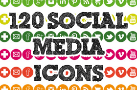 Bloggie Wednesdays: 120 Free Social Media Icons For You To Download!