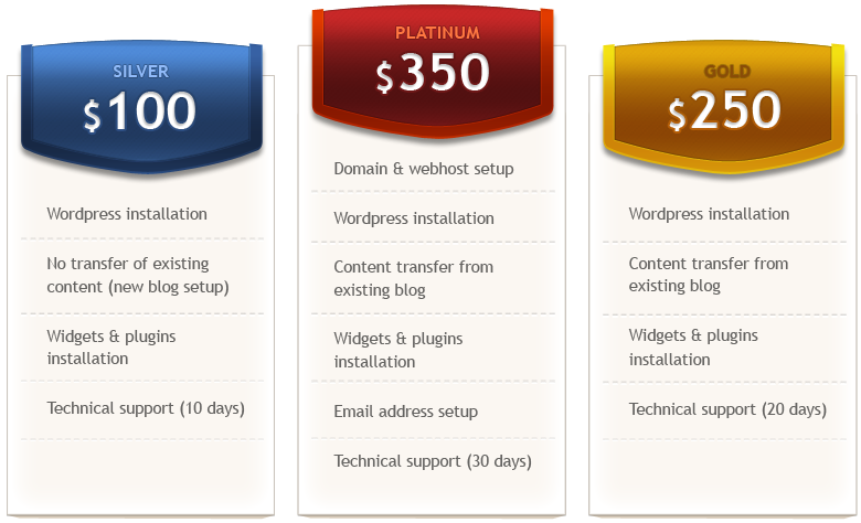 Hire Me Packages Feb 2014