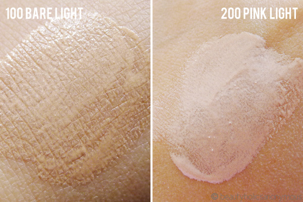 Revlon PhotoReady Skinlights Face Illuminator in Bare Light and Pink Light Swatch