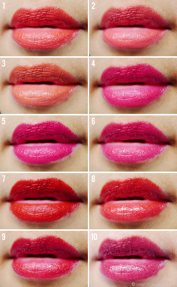 My Top Ten Bright Lipsticks