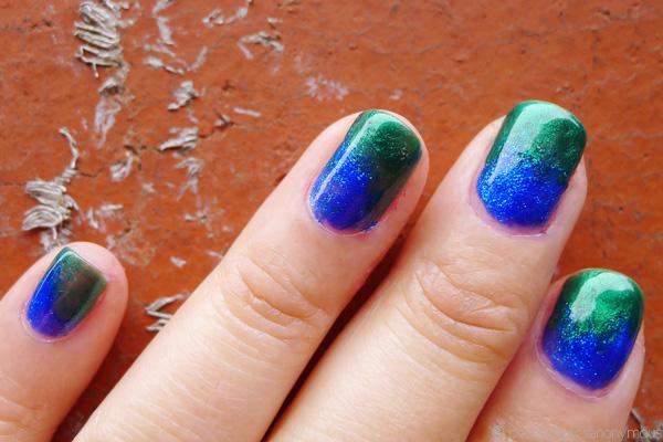 Nail Spiration Blue Green Dichroic Glass Beautyholics Anonymous