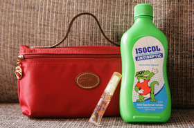 Beauty Tip: Keep a Bottle of Rubbing Alcohol In Your Purse. Especially If You Use Public Loos!
