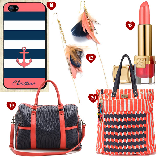 List of Lusts: Navy + Coral