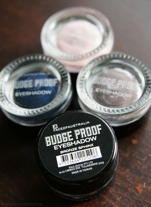 Face of Australia Budgeproof Eyeshadows