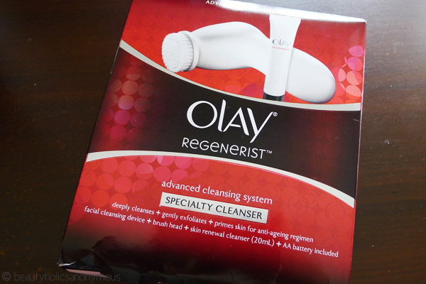 Olay Regenerist Advanced Cleaning System Specialty Cleanser: The Tiniest 3rd Triplet of the Cleansing Brush Trio