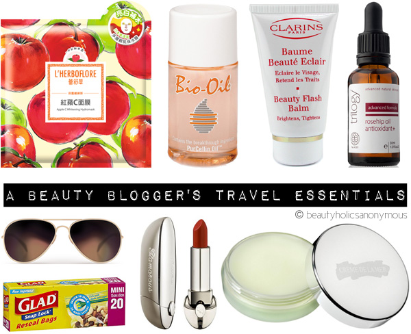 A Beauty Blogger's Travel Beauty Essentials