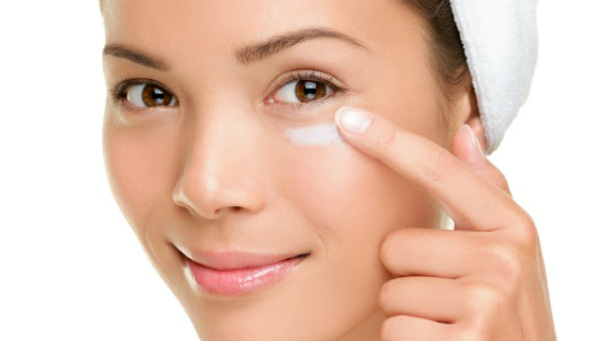 Applying Eye Cream