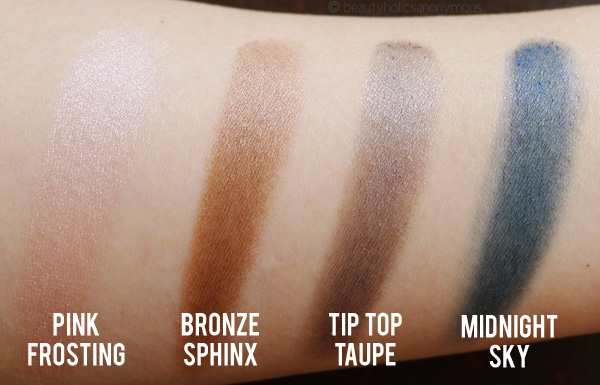Face of Australia Budgeproof Eyeshadow Swatches