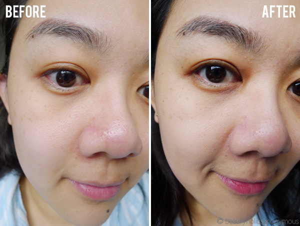 Maybelline Instant Age Rewind The Lifter Foundation Before and After