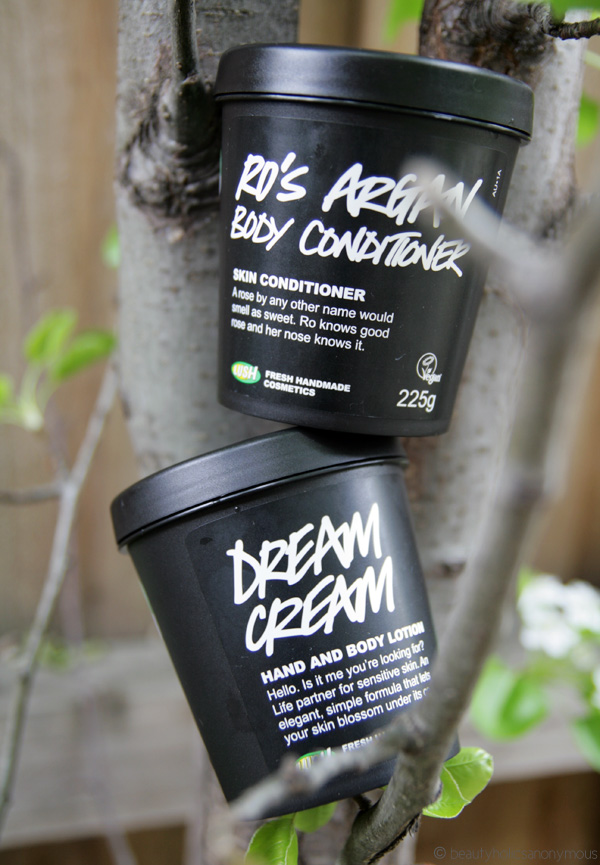 LUSH Ro's Argan Body Conditioner and Dream Cream
