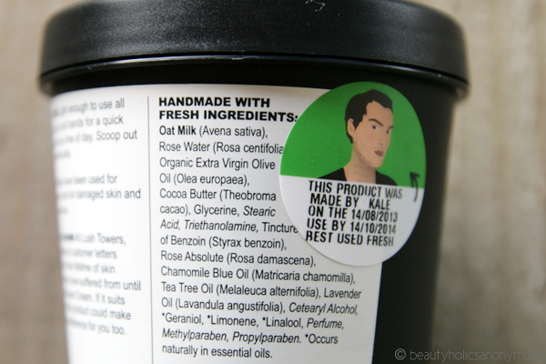 LUSH Dream Cream Hand and Body Lotion Ingredients