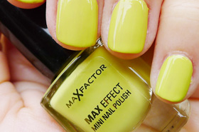 Quickie Mention: Max Factor's Mini Nail Polish in Acid Lime