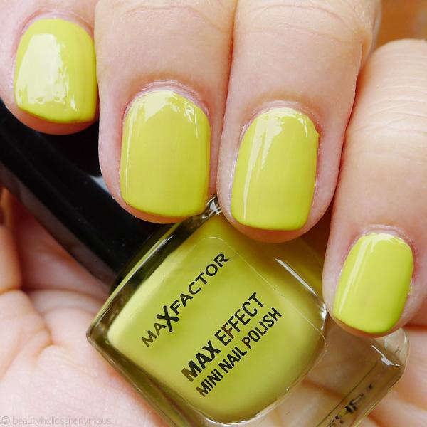Acid Yellow Nail Polish: Quickie Mention: Max Factor's Mini Nail Polish In Acid