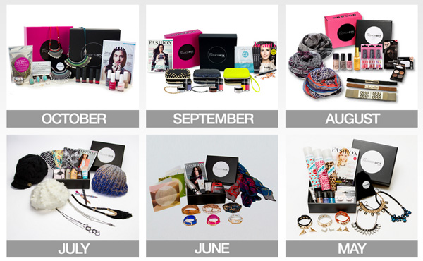 Previous boxes of Her Fashion Box