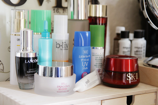 Skincare products, different brands