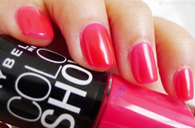 Quickie Mention: Maybelline Color Show Nail Lacquer in Pink Shock