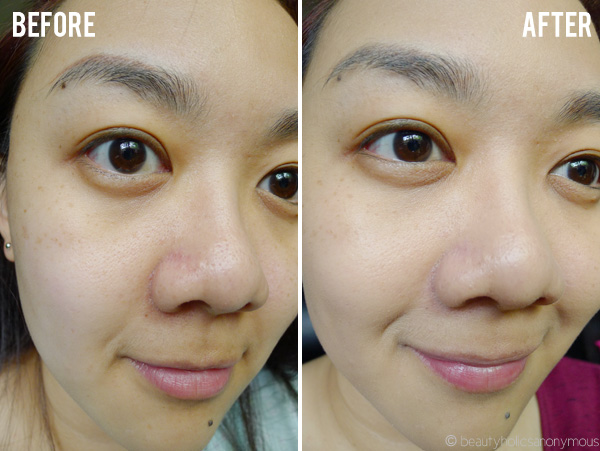AVON Ideal Flawless Invisible Coverage Foundation Before and After