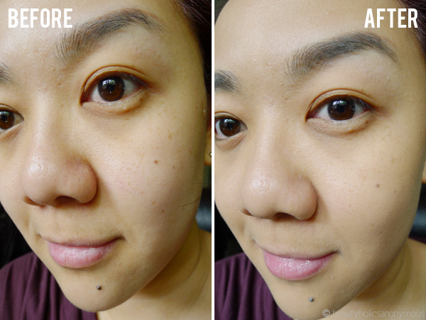 Giorgio Armani Luminous Silk Foundation Before and After