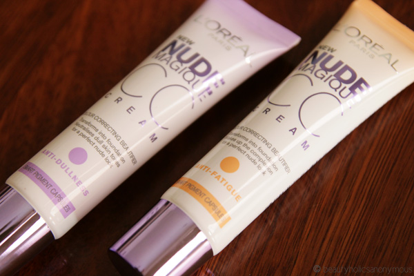 L'Oreal Nude Magique CC Creams in Anti-Dullness and Anti-Fatigue
