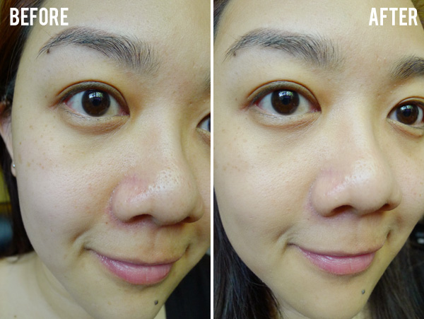 Bourjois Happy Light Foundation Before and After