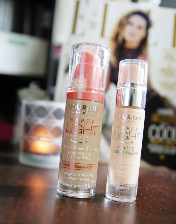 Bourjois Happy Light Foundation and Happy Light Matte Serum Primer