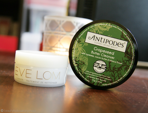 Eve Lom Cleanser and Antipodes Grapeseed Butter Cleanser