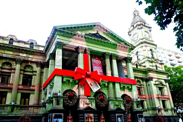 Melbourne Town Hall Christmas 2013